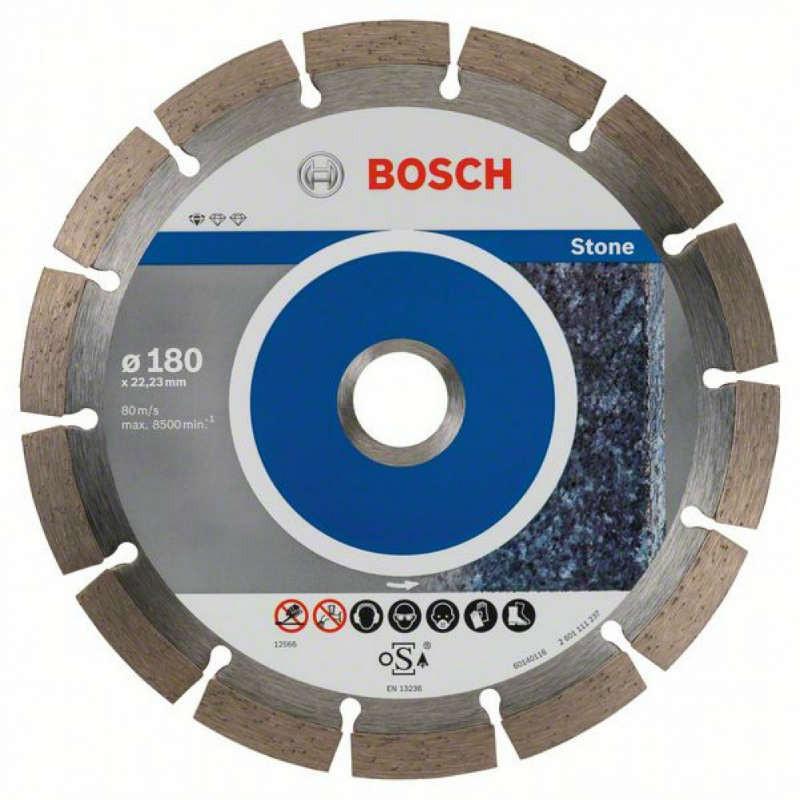 Алмазный отрезной круг Bosch Standard for Stone180x22,23, 10 шт в уп.