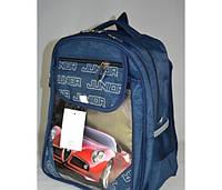 Ортопедический рюкзак для мальчика в школу с машиной