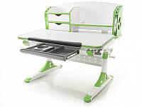 Стол Mealux Evo-kids Aivengo (M) Green столешница клен/ножки белые с зеленым