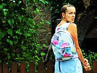 Водонепроницаемый хлопковый рюкзак с цветами, фото 1