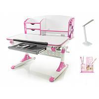 Стол Mealux Evo-kids Aivengo (M) Pink столешница клен/накладки розовые