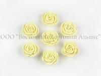 Цветы из мастики - Розочка маленькая - Белая - 25 штук