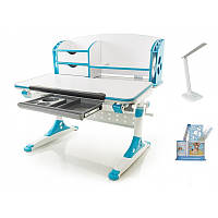 Стол Mealux Evo-kids Aivengo (M) Blue столешница клен/накладки синие