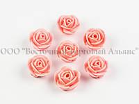 Квіти з мастики - маленька Трояндочка - Рожева -25 штук