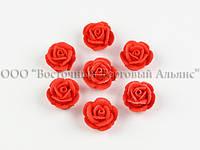 Цветы из мастики - Розочка маленькая - Красная - 25 штук
