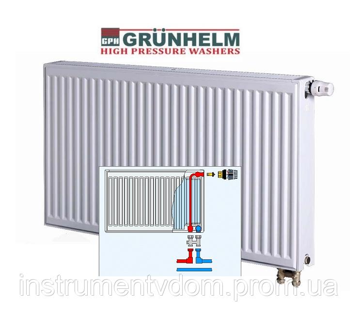 Радиатор стальной GRUNHELM с нижним подключением, 22 тип (500х1000 мм)