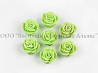 Квіти з мастики - маленька Трояндочка - Салатова - 25 штук