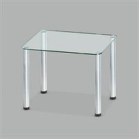 Стол обеденный стеклянный Моно С10/мет