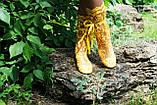 Модные кружевные летние желтые сапожки , фото 2
