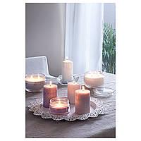 IKEA ЛУГГА Ароматическая свеча в стакане, белый Свежее белье, белый : 50259214, 502.592.14