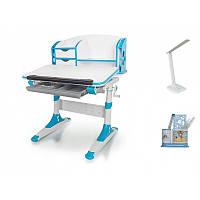 Стол Mealux Evo-kids Aivengo (S) Blue столешница белая/ножки белые с синим