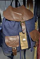 Рюкзак джинс + кожзам 641 40х32х20см