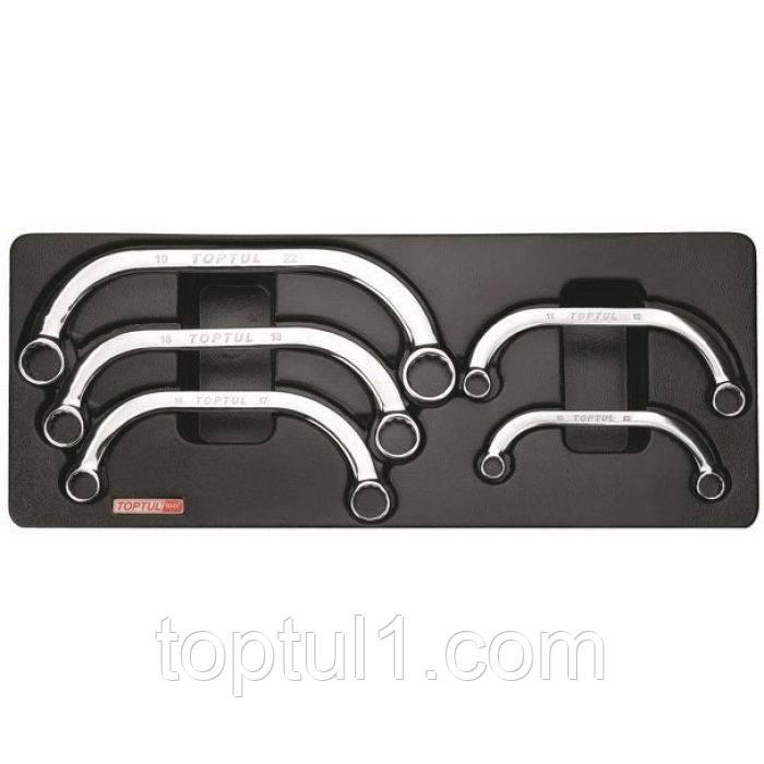 Набор ключей накидных TOPTUL GAAT0504 (GAAT0503) С-обр. 10-22 мм 5 ед. (в ложементе)