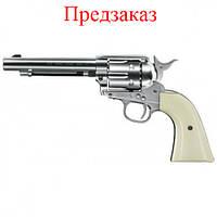 Пневматический револьвер Umarex Colt Single Action Army 45 Brown дизайн никель