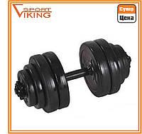 Гантель разборная наборная битумная 1х15 кг (вес общий 16 кг)