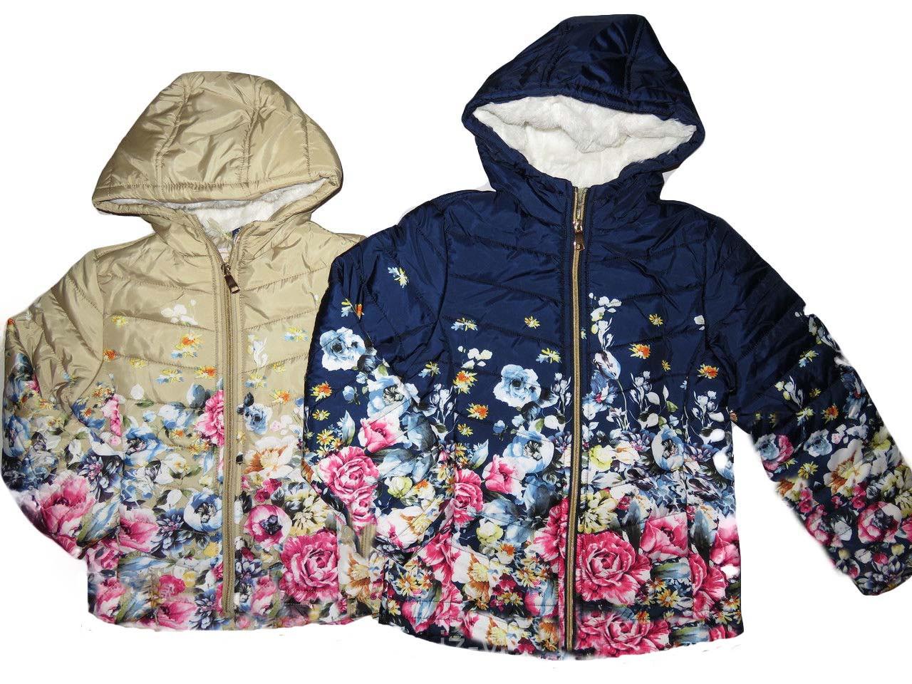 Куртка демисезонная для девочек на синтепоне, размеры ,8, лет, F&D, арт. YY-2935