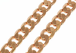 Цепочка фирмы Xuping, цвет: позолота. Длинна 52 см, ширина 10 мм.