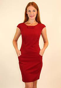 Школьное платье футляр 42-44 р ( зеленый, бордовый )
