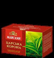 Чай черный Майский Царская Корона с ЛОЖКОЙ пакетированный 40 шт. 906367