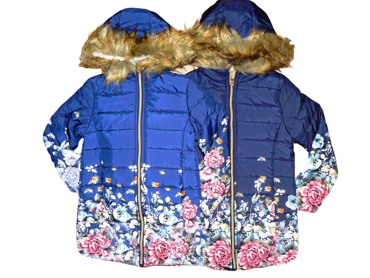 Куртка для девочек с мехом, размеры 4,4,6 лет, F&D, арт. YY-2934
