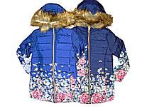 Куртка для девочек с мехом, размеры 4,4,6 лет, F&D, арт. YY-2934, фото 1