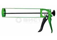 12-010 Пистолет для герметика скелетный метал.зубчат.стержень