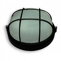 Светильник наст н. Ecostrum 60W Е27 круг черный с решеткой SL-1052
