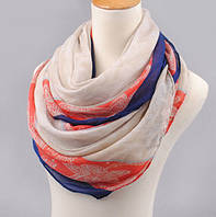 Красивый женский длинный шарф с абстрактным принтом