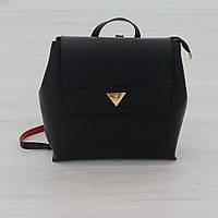 Рюкзак из искусственной кожи черный (К-308)