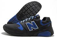 Кроссовки мужские New Balance 999 черные с синим (нью беленс)