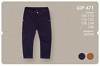 Утепленные котоновые брюки для мальчика 116