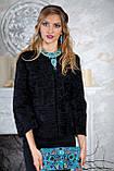 Пиджак жакет из каракульчи черный swakara broadtail jacket  , фото 5