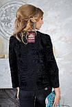Пиджак жакет из каракульчи черный swakara broadtail jacket  , фото 6