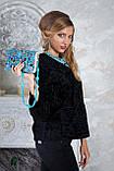 Пиджак жакет из каракульчи черный swakara broadtail jacket  , фото 7