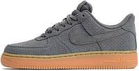 Женские кроссовки Nike Air Force 1 07 Suede Gray, найк аир форс