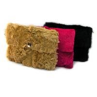 Сумка-клатч средняя меховая женская 116-7, фото 1