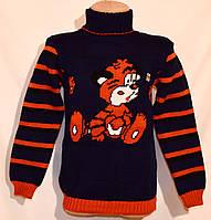 """Детский вязаный свитер """"Тигрёнок"""" для мальчика, фото 1"""
