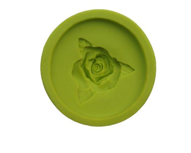 """Форма для мастики (марципана) силіконова """"троянда"""" d4см, Італія"""