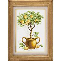 Алмазная мозаика квадратными камнями «Лимонное дерево» Dream Art 30103 (26 х 40 см) на холсте