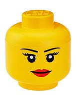 Ящик для хранения Lego Голова Девочка L PlastTeam 40321222