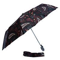 Зонт перья на черном 301S-07