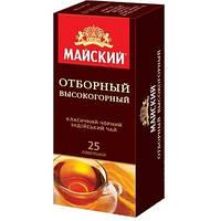 Чай чёрный в пакетах Майский Отборный Высокогорный 25 шт 904928