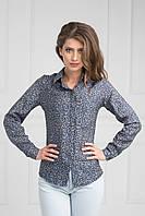 Блуза длинный рукав с манжетом на пуговице