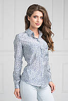 Блуза прямого силуэта с нагрудным карманом
