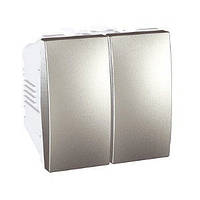 Выключатель 2-кл алюминий Schneider Electric Unica Top MGU3.211.30