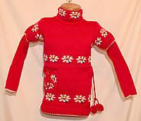 """Детский вязаный свитер """"Ромашка"""""""