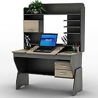 Эргонимичный компьюторный стол-парта регулируемая СУ- 21, венге магия+ дуб молочный