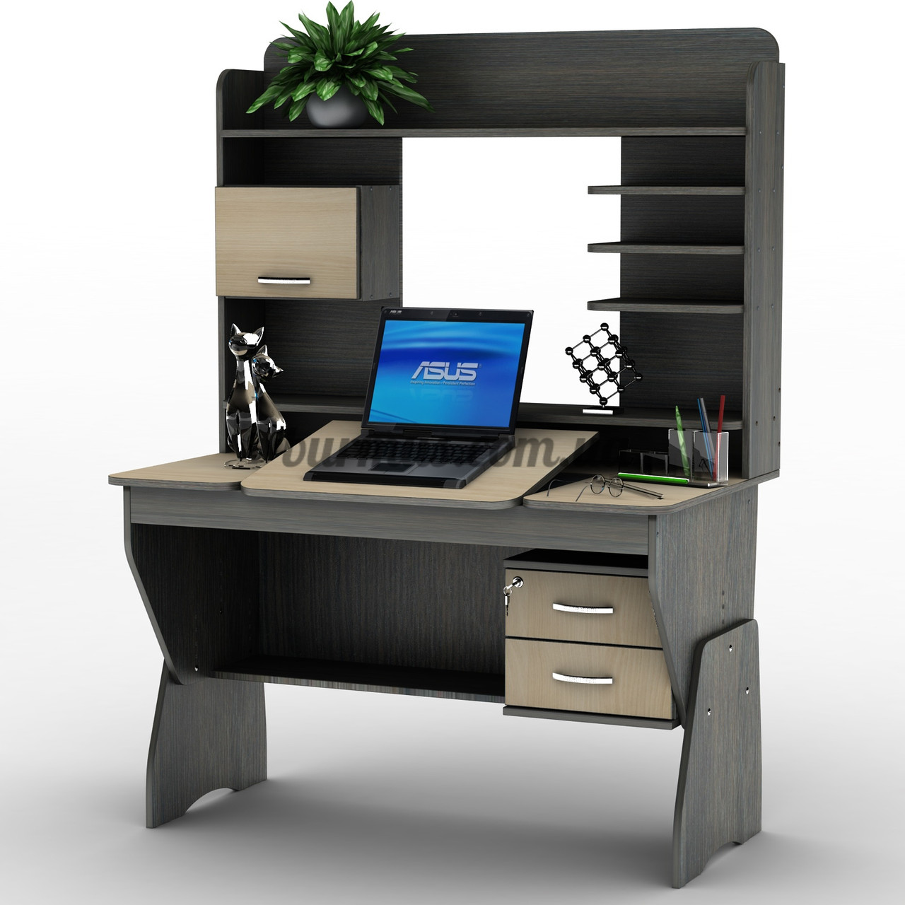 Эргонимичный компьюторный стол-парта регулируемая СУ- 21, венге магия+ дуб молочный - ЧП Бурмус в Полтаве