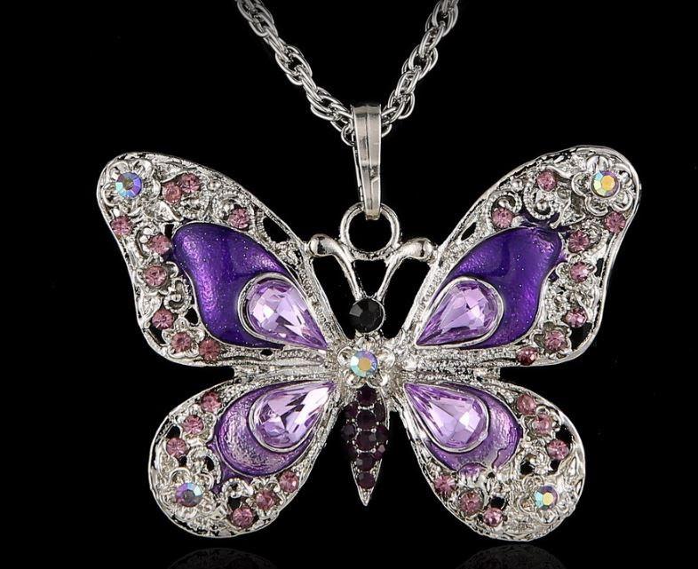 Ланцюжок жіночий з кулоном Метелик код 243