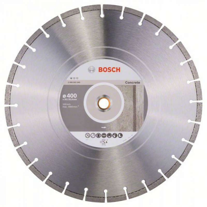 Алмазный отрезной круг Bosch Standart for Concrete400x20/25,4